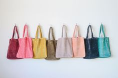 Cotton velvet tote bag with pocket and lined with like color. x 11 x with inch handle. Tote Bag With Pockets, Bag Display, Diy Tote Bag, Fabric Stamping, Cotton Velvet, Reusable Bags, Cotton Tote Bags, Bag Accessories, Purses And Bags