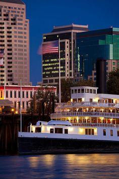 Delta King on the Sacramento River, Sacramento, California Sacramento California, Sacramento River, Visit California, California Dreamin', Northern California, Beach Trip, Beach Travel, Travel Usa, Travel Humor