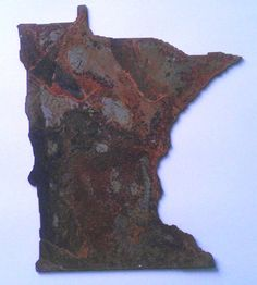 6 inch State Shape MINNESOTA Rusty Vintage Antiquey by ThorsForge, $4.00