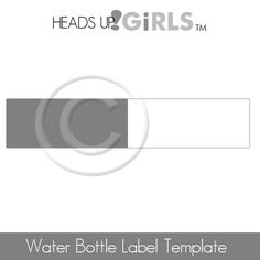 Digital Water Bottle Labels Layered Photoshop Templates by HeadsUpGirls, $3.00