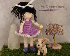 Sophie and her little puppy Lola English by FairyGurumisCrochet