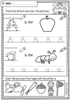 This set includes 58 pages of morning work activities. These pages are great for kindergarten and first-grade students. Children will practice tracing, writing, coloring the alphabet letters and numbers. Children are encouraged to use thinking skills whil First Grade Worksheets, Alphabet Worksheets, Preschool Worksheets, Classroom Activities, Work Activities, Alphabet Letters, Preschool Alphabet, Kindergarten Morning Work, Homeschool Kindergarten