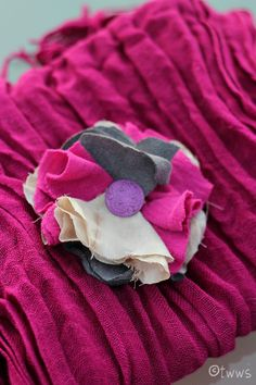 A fabric flower to add to all those cool scarves everyone is making.