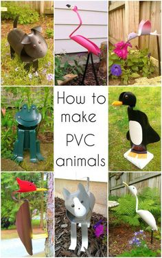 Individualistic spearheaded diy metal projects ideas Pvc Pipe Crafts, Pvc Pipe Projects, Diy Garden Projects, Garden Crafts, Diy Garden Decor, Diy Crafts, Garden Decorations, Welding Projects, Outdoor Crafts