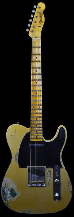 Fender 1956 Telecaster Heavy Relic HLE Gold Over Sherwood Green