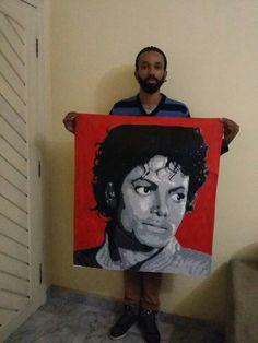 Michael Jackson stencil 8 layers