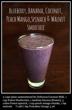 FATTY LIVER DIET DRINK - Blueberry, Banana, Coconut, Peach Mango, Spinach & Walnut Smoothie.  Liver cleansing diet raw foods have the power to reverse & cure liver disease including fatty liver, liver fibrosis & cirrhosis of the liver. Try the #1 natural fatty liver disease treatment the LIVER FLUSH.  https://www.youtube.com/watch?v=EC9ewx7LsGw I LIVER YOU