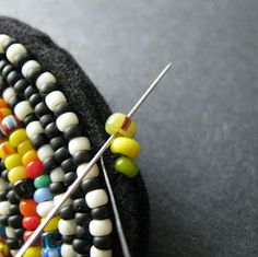 Square Stitch Trim - Bead Embroidery Finishing Technique