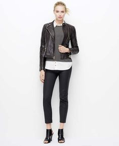 Leather Moto Jacket | Ann Taylor - WANT