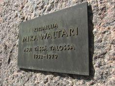 Hän asui täällä: Mika Waltari (2) Books, Libros, Book, Book Illustrations, Libri
