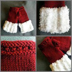 Yuletide Fingerless Mittens Loom Knit by JaNaeSmittenKnittens