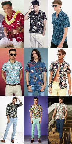 Men's 1950s-Inspired Hawaiian Shirts Outfit Inspiration Lookbook