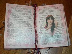 Last weekhas been a really busy week and I haven't had any time to work on my altered book. Below are a few more pages and I will be spend...