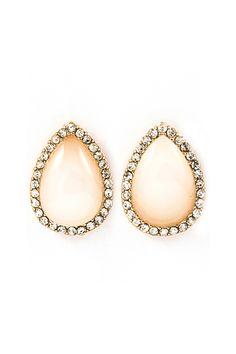 Ivory Teardrop Earrings