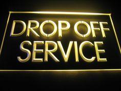 Drop Off Service Logo Led Neon Signs, Neon Light Signs, Open Signs, Service Logo, Neon Lighting, Motel, Night Light, Drop, Key