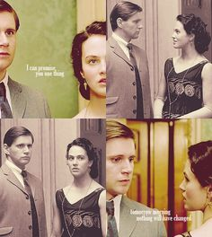 Sybil and Branson in Downton Abbey <3
