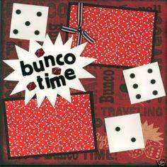 Bunco scrapbook page