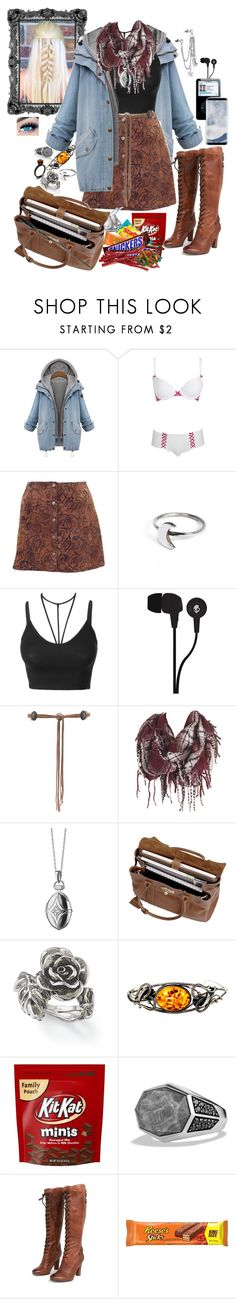 """""""Untitled #390"""" by iamdestoryer ❤ liked on Polyvore featuring Star by Julien Macdonald, Holly Ryan, LE3NO, Skullcandy, Lovers + Friends, Monica Rich Kosann, Mulberry, Natures Jewelry, David Yurman and Sam Edelman"""