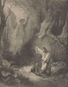 Gustave Dore, Agony in the Garden, from The Dore Gallery of Bible Illustrations, 1891 Gustave Dore, Religious Images, Religious Art, Agony In The Garden, Harry Clarke, Jesus Christ Images, Bible Illustrations, Les Religions, William Blake