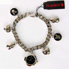 Playboy Armbanduhr Uhr Armband Damenuhr silber farben
