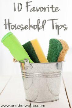 10 Favorite Household Tips (she: Rebecca) - Or so she says...