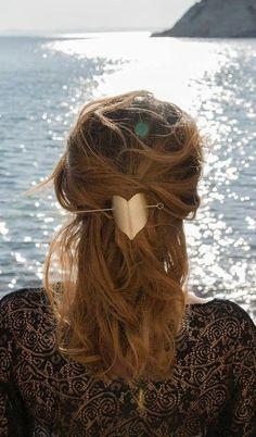 Brass Hair Pin | Modern Hair Stick