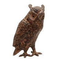 Antique Bronze Screech Owl