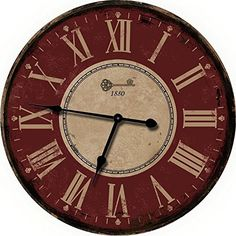 red large wall clock oversized wall clocks or decorativ https