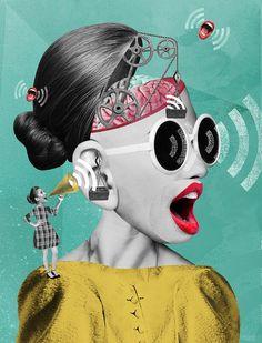 Creative Collage Artworks by Olga Khaletskaya – Inspiration Grid Collage Kunst, Surreal Collage, Surreal Art, Face Collage, Collage Artwork, Photo Collages, Collage Drawing, Collage Frames, Collage Design