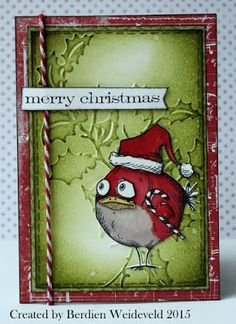 Scrap from Bemmel: Bird Crazy Christmas - fantastic way to use your Bird Crazy stamps from Tim Holtz for Christmas cards! Crazy Bird, Crazy Cats, Crazy Animals, Tim Holtz Stamps, Christmas Bird, Bird Crafts, Winter Cards, Copics, Paper Cards
