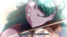 Sailor Moon Crystal OST - Michiru Violin - Umi no Serenade (Ocean Serenade) Sailor Neptune, Sailor Uranus, Sailor Moon Crystal, Manga Characters, Moonlight, Ocean, Animation, Crystals, Pretty