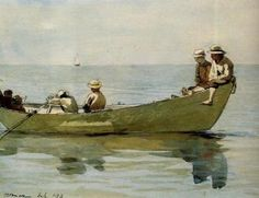 Seven Boys in a Dory - Winslow Homer - 1873
