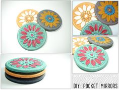 #DIY pocket mirrors