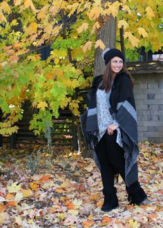 Madden Girl at Kohl's  Fall Style: Ruana & Knit Hat