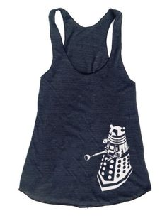 Dalek Exterminate Doctor Who inspired Woman's Racerback workout fitness tank crossfit running on Etsy, $22.00