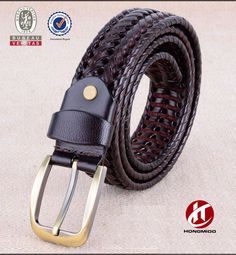 Fashion designer leather fabric belt for man