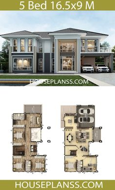 House Plans Idea with 5 bedrooms – House Plans Sam House Plans Idea with 5 bedrooms – House Plans Sam Pin: 768 x 1267 5 Bedroom House Plans, 3d House Plans, Model House Plan, House Layout Plans, Craftsman Style House Plans, House Blueprints, Dream House Plans, House Layouts, Br House