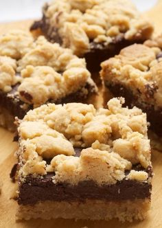 Peanut Butter Chocolate Bars are delicious crumb topped bars made with a cake mix shortcut.