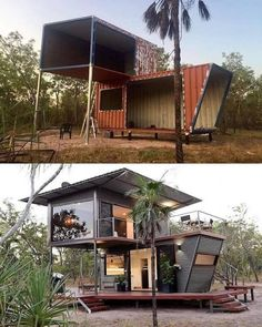 Be immersed in the rugged beauty of our Northern bushland, from the luxury and comfort of this two story (dressed up) shipping container. innenarchitektur modern The Magnificent Hideaway Litchfield Container Cabin in Nature – Australia Building A Container Home, Container Cabin, Container Buildings, Container Architecture, Container House Plans, Sustainable Architecture, Container Homes, Contemporary Architecture, House Architecture