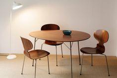 Designed by Arne Jacobsen Made in Denmark -- Egg Table -model 3603- / Fritz Hansen