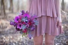Bukiet ślubny z anemonami