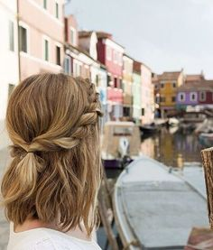 16 Stunning Hairstyles for Different Occasions: #17. Twisted Half Updo Hairstyle