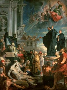 PETER PAUL RUBENS, 1577 - 1640: Miracles of St Francis Xavier. Oil on panel, 105'5 x 74.