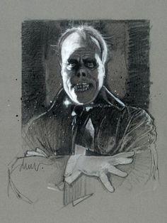 Phantom of the Opera - Mondo Universal Monsters Classic Monster Movies, Classic Monsters, Horror Films, Horror Art, Universal Monsters, Illustrations, Illustration Art, Opera Ghost, The Frankenstein