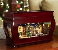 I love music boxes! Mr. Christmas Animated Symphony of Bells Music Box with ANTIQUE CARS Only $109.99