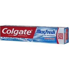 Colgate Max Fresh Toothpaste with Mini Breath Strips, Cool Mint - 7.8 oz