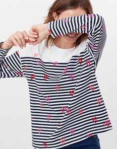 Marina print CREAM GREEN STRIPE DUCK Dropped Shoulder Jersey Top | Joules UK Joules Uk, Show Photos, Green Stripes, How To Draw Hands, Dress Up, Shoulder, Sleeves, Cotton, How To Wear