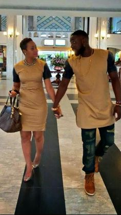 Matching African couple