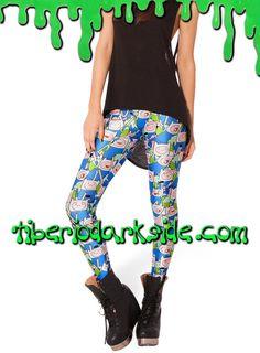 ADVENTURE TIME FINN THE HUMAN LEGGINGS  Leggings con el personaje de la serie Hora de Aventuras (Adventure Time): Finn el Humano, de color aaul, en varias posturas y tamaños. Impresión digital. Cinturilla elástica. Materiales: polyester y spandex.  COLOR: AZUL TALLA: ÚNICA  ÚNICA - vale para tallas 36 a 42 LARGO - 98 cm