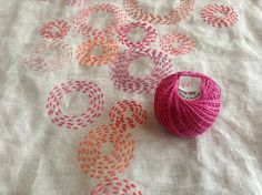 Daily Circle Embroidery, Day 20 by bluepeninsula, via Flickr